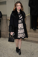 www.acepixs.com<br /> February 9, 2018  New York City<br /> <br /> Lucy Hale attending the Kate Spade presentation, New York Fashion Week, on February 9, 2018 in New York City.<br /> <br /> Credit: Kristin Callahan/ACE Pictures<br /> <br /> <br /> Tel: 646 769 0430<br /> Email: info@acepixs.com