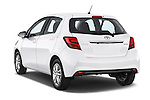 Car pictures of rear three quarter view of a 2015 Toyota YARIS Dynamic 5 Door Hatchback 2WD Angular Rear