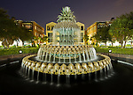 A photo of the famous Pineapple Fountain in Charleston SC.