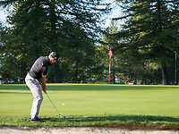 Wade Ormsby (AUS) in action on the 1st hole during second round at the Omega European Masters, Golf Club Crans-sur-Sierre, Crans-Montana, Valais, Switzerland. 30/08/19.<br /> Picture Stefano DiMaria / Golffile.ie<br /> <br /> All photo usage must carry mandatory copyright credit (© Golffile | Stefano DiMaria)