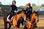 April 27, 2019 : Champagne Anyone works out at Churchill Downs, Louisville, Kentucky, preparing for a start in the Kentucky Oaks. Owner Six Column Stables LLC and Randall L. Bloch, trainer Ian R. Wilkes. By Street Sense x Lucevan (Ghostzapper) Mary M. Meek/ESW/CSM