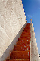 The Jantar Mantar, a collection of architectural astronomical instruments, built by Maharaja (Ruler) Jai Singh II at his then new capital of Jaipur between 1727 and 1734. It is modeled after the one that he had built for him at the then Mughal capital of Delhi.