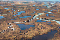 Aerial of the Copper River Delta, Prince William Sound, Alaska.