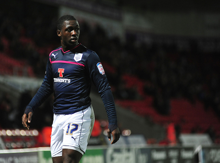 Preston North End's Jeffrey Monakana ..Football - npower Football League Division One - Doncaster Rovers v Preston North End - Tuesday 2nd October 2012 - Keepmoat Stadium - Doncaster..m