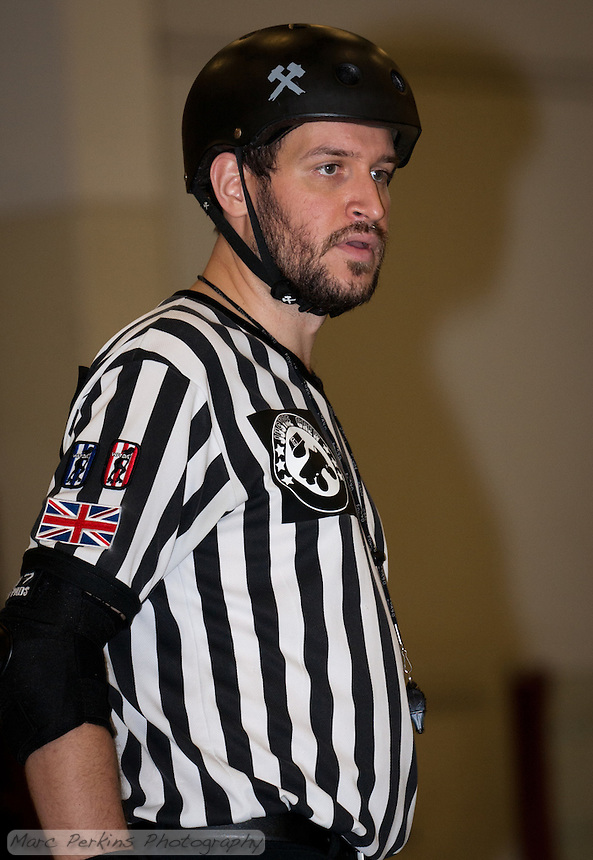Cameltron focuses on the action as Back Pack Referee.