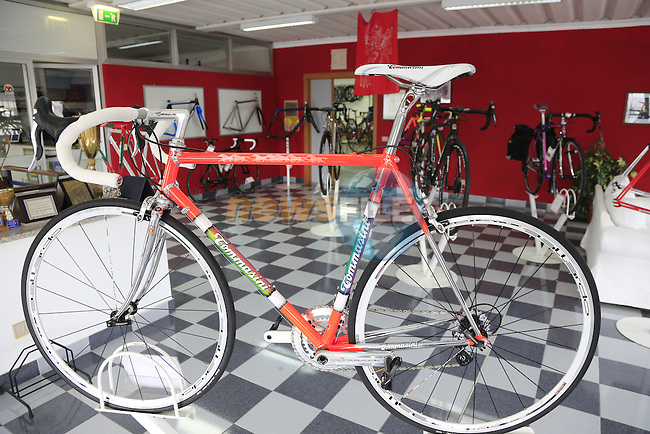 Tecno Classic on display in the showroom at the Tommasini factory based in Grosseto, Tuscany, Italy 6th March 2017.<br /> Picture: Eoin Clarke   Newsfile<br /> <br /> <br /> All photos usage must carry mandatory copyright credit (© Newsfile   Eoin Clarke)