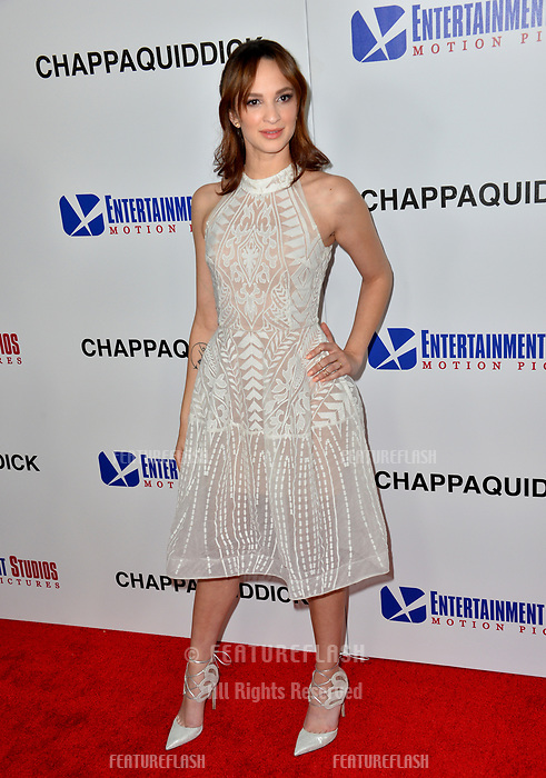 Ruby Modine at the premiere for &quot;Chappaquiddick&quot; at the Samuel Goldwyn Theatre, Los Angeles, USA 28 March 2018<br /> Picture: Paul Smith/Featureflash/SilverHub 0208 004 5359 sales@silverhubmedia.com