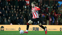 Mathias Jensen of Brentford in action during Brentford vs Leeds United, Sky Bet EFL Championship Football at Griffin Park on 11th February 2020