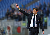Football, Serie A: S.S. Lazio - Udinese Olympic stadium, Rome, December 1, 2019. <br /> Lazio's coach Simone Inzaghi gestures during the Italian Serie A football match between S.S. Lazio and Udinese at Rome's Olympic stadium, Rome on December 1, 2019.<br /> UPDATE IMAGES PRESS/Isabella Bonotto