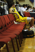 The Dynamos bare bench, as the visitors were reduced to one substitute after the injury to Eric Vierneisel during the NBL Round 9 match between the Wellington Saints and Nelson Giants at TSB Bank Arena, Wellington, New Zealand on Thursday 7 May 2009. Photo: Dave Lintott / lintottphoto.co.nz