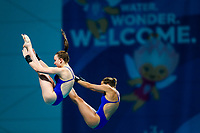 Picture by Rogan Thomson/SWpix.com - 16/07/2017 - Diving - Fina World Championships 2017 -  Duna Arena, Budapest, Hungary - Lois Toulson and Tonia Couch of Great Britain compete in the Women's 10m Synchro Platform Preliminary.