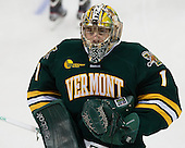 John Vazzano (UVM - 1) - The Boston College Eagles defeated the University of Vermont Catamounts 4-1 on Friday, February 1, 2013, at Kelley Rink in Conte Forum in Chestnut Hill, Massachusetts.