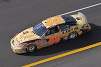 Apr 27, 2007; Talladega, AL, USA; Nascar Nextel Cup Series driver Dale Jarrett (44) during practice for the Aarons 499 at Talladega Superspeedway. Mandatory Credit: Mark J. Rebilas