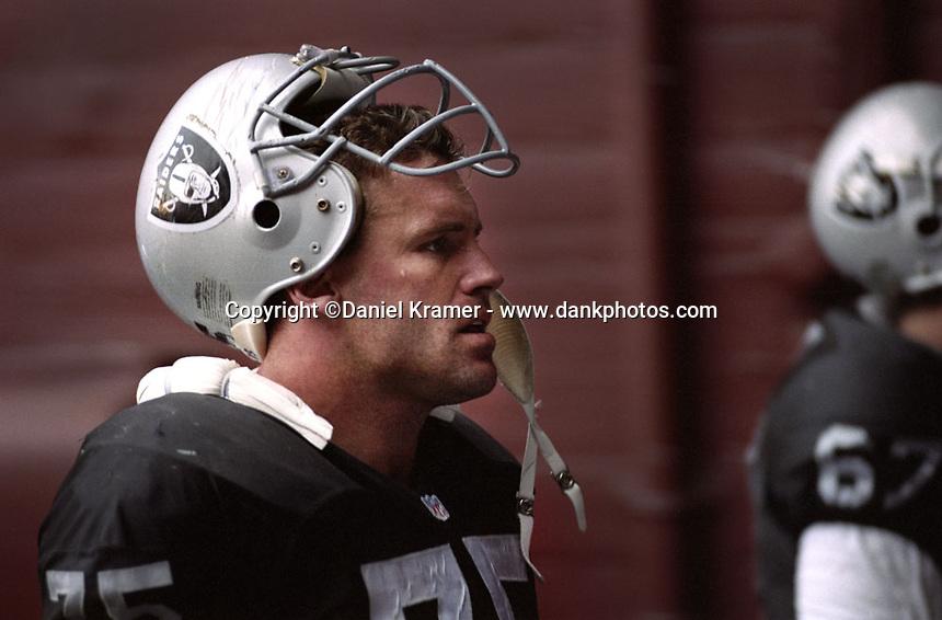 Howie Long; Los Angeles Raiders; Los Angeles Memorial Coliseum;