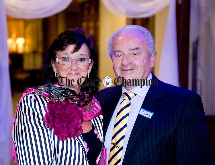T.J Cahir with his wife, Carmel. Photograph by Declan Monaghan