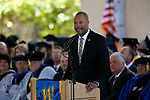 Nevada Attorney General Aaron Ford speaks at the 2019 Commencement of Western Nevada College, in Carson City, Nev., on Monday, May 20, 2019. <br /> Photo by Cathleen Allison/Nevada Momentum