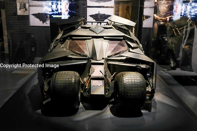 LA BATMOBILE - EXPOSITION DC COMICS 'L'AUBE DES SUPER-HEROS' A ART LUDIQUE-LE MUSEE, PARIS, FRANCE, LE 31/03/2017.