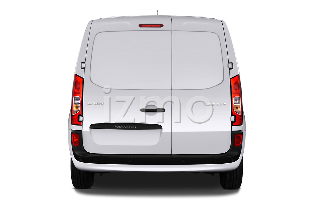Straight rear view of 2019 Mercedes Benz Citan Perfect-Tool 5 Door Car Van Rear View  stock images