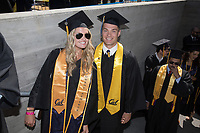 BERKELEY, CA - May 13, 2017: Class of 2017 Commencement.  Madeleine Kerr and Justin Murphy.