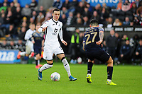 Bersant Celina of Swansea City in action during the Sky Bet Championship match between Swansea City and Barnsley at the Liberty Stadium in Swansea, Wales, UK. Sunday 29 December 2019