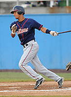 July 17, 2009: Infielder Ronald Rivas (6) of the Kinston Indians, Carolina League affiliate of the Cleveland Indians, in a game against the Potomac Nationals at G. Richard Pfitzner Stadium in Woodbridge, Va. Photo by: Tom Priddy/MiLB.com