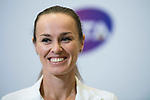 Martina Hingis of Switzerland and Chan Yung-jan of Taiwan attend a promotional event during the BNP Paribas WTA Finals Singapore presented by SC Global at Singapore Sports Hub on 27 October 2017 in Singapore. Photo by Victor Fraile / Power Sport Images