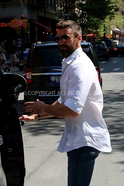 ACEPIXS.COM<br /> <br /> May 11 2014, New York City<br /> <br /> Actor Hugh Jackman leaves a downtown hotel with his daughter Ava on May 11 2014 in New York City<br /> <br /> <br /> By Line: Zelig Shaul/ACE Pictures<br /> <br /> ACE Pictures, Inc.<br /> www.acepixs.com<br /> Email: info@acepixs.com<br /> Tel: 646 769 0430