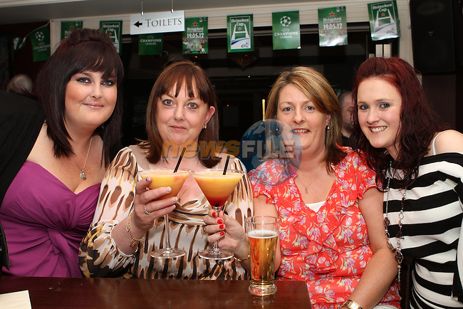 Nicola and Yvonne Traynor with Stephanie McLoughlin and Donna Bracken celebrate Yvonne and Stephanie's birthdays in the Westcourt...(Photo Jenny Matthews/www.newsfile.ie)