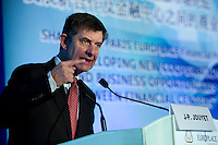 French Financial Markets Authority Chairman Jean-Pierre Jouyet speaks at Shanghai / Paris Europlace Financial Forum, in Shanghai, China, on December 1, 2010. Photo by Lucas Schifres/Pictobank