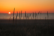 Hampton Beach State Park in Hampton, New Hampshire USA at sunrise