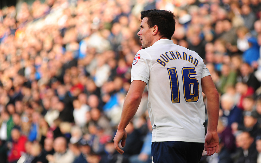 Preston North End's David Buchanan<br /> <br /> Photographer Chris Vaughan/CameraSport<br /> <br /> Football - The Football League Sky Bet League One - Preston North End v Fleetwood Town - Saturday 25th October 2014 - Deepdale - Preston<br /> <br /> &copy; CameraSport - 43 Linden Ave. Countesthorpe. Leicester. England. LE8 5PG - Tel: +44 (0) 116 277 4147 - admin@camerasport.com - www.camerasport.com