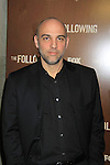 """Marocs Siega directs """"The Following"""", Fox's new tv series on Mondays, which held its world premiere on January 19, 2013 at the New York Public Library, New York City, New York. (Photo by Sue Coflin/Max Photos)"""