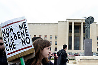 Roma, 13 Maggio 2019<br /> Migliaia di studentesse e studenti antifascisti presidiano la città Universitaria per accogliere Mimmo Lucano, il sindaco sospeso di Riace contro le minacce di Forza Nuova