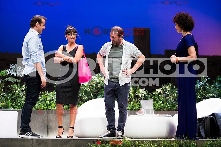 "Luis Merlo, Itziar Atienza, Antonio Molero and Maru Valdivieso during the theater play ""El Test"" at Teatro Cofidis in Madrid. September 15, Spain. 2016. (ALTERPHOTOS/BorjaB.Hojas) /NORTEPHOTO"