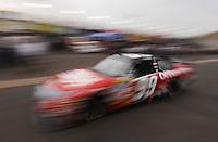 Apr 20, 2007; Avondale, AZ, USA; Nascar Nextel Cup Series driver Carl Edwards (99) during practice for the Subway Fresh Fit 500 at Phoenix International Raceway. Mandatory Credit: Mark J. Rebilas