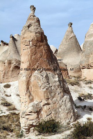 Closeup of a fairy chimney in Cappodocia, Turkey