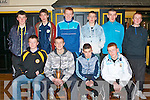 CHAMPIONS: Just some of the Austin Stacks U15's team winners of the Coiste Trali? 2008 at their medal presentation in Connolly Park on Saturday seated l-r: Ciara?n O'Connell, Alan Crean (captain), Danny Roche and Gary Switzer. Back l-r: Alan Duggan, Shane Walsh, Shane Crowley, Dan O'Brien, Dean Bastible and Tom McLoughlin.