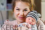 Sandra Sroczynski and her son Nicolas who was born at 7.40am on New years morning.