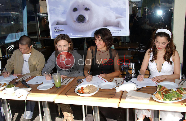 Reggie Lee and Emily Deschanel with Darcy Halsey and Gina Phillips<br />