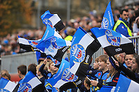 Bath flags are waved by the guard of honour prior to the match. LV= Cup match, between Bath Rugby and Exeter Chiefs on November 17, 2013 at the Recreation Ground in Bath, England. Photo by: Patrick Khachfe / Onside Images