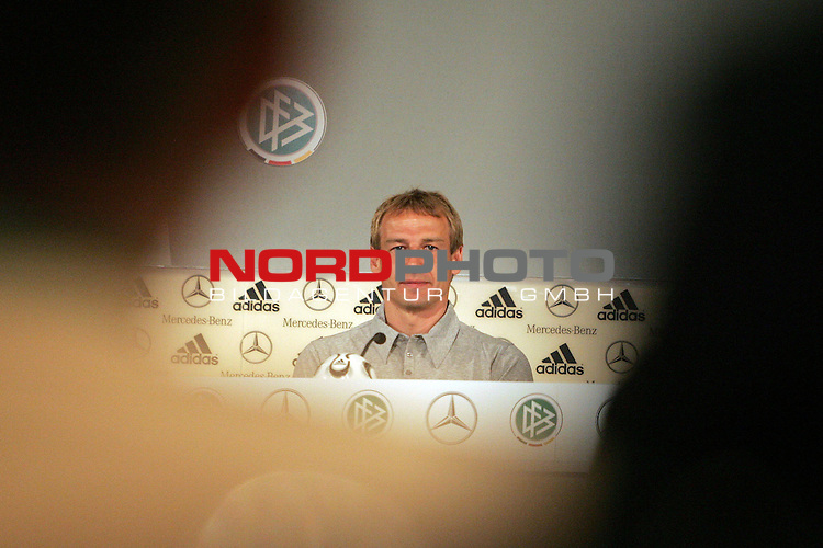 FIFA WM 2006 - Press Conference - Germany<br /> <br /> Coach J&cedil;rgen Klinsmann during a DFB-Press Conference at the ICC in Berlin.<br /> <br /> Foto &copy; nordphoto
