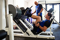 Francois Louw of Bath Rugby in the gym. Bath Rugby pre-season training on July 2, 2018 at Farleigh House in Bath, England. Photo by: Patrick Khachfe / Onside Images