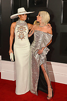 LOS ANGELES, CA - FEBRUARY 10: Jennifer Lopez and Lady Gaga at the 61st Annual Grammy Awards at the Staples Center in Los Angeles, California on February 10, 2019. <br /> CAP/MPIFS<br /> &copy;MPIFS/Capital Pictures