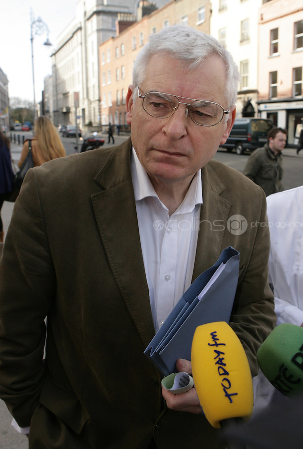 09/03/2011.Socialist TD Joe Higgins.during the 1st day of the 31st Dail.at Leinster House,  Dublin..Photo: Gareth Chaney Collins