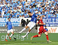 Marcel Franke (SV Darmstadt 98) klärt per Kopfball - 05.08.2018: SV Darmstadt 98 vs. SC Paderborn 07, Stadion am Boellenfalltor, 1. Spieltag 2. Bundesliga<br /> <br /> DISCLAIMER: <br /> DFL regulations prohibit any use of photographs as image sequences and/or quasi-video.