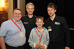 Sean macMOnagle, Daniel MacMOnagle, Judd Trump and Neal Robertson in 2011..Photo by Don MacMOnagle