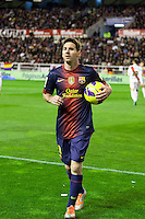 Leo Messi, entering stadium