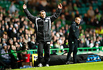 Celtic v St Johnstone....26.12.10  .Derek McInnes can't believe his side have lost two goals in injury time.Picture by Graeme Hart..Copyright Perthshire Picture Agency.Tel: 01738 623350  Mobile: 07990 594431