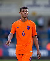 Juninho Bacuna (FC Groningen) of Netherlands during the International friendly match between England U20 and Netherlands U20 at New Bucks Head, Telford, England on 31 August 2017. Photo by Andy Rowland.