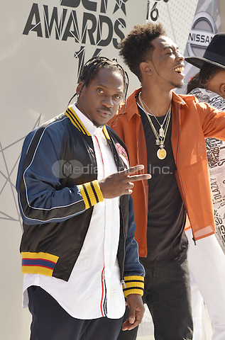 LOS ANGELES, CA - JUNE 26: Pusha T, Desiigner at the 2016 BET Awards at the Microsoft Theater on June 26, 2016 in Los Angeles, California. Credit: Koi Sojer/MediaPunch